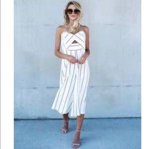 Vici Collection Hilton Strapless Jumpsuit